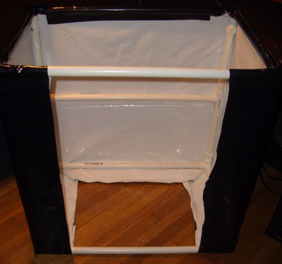 6)Wrap a second piece 25 x90  from the bottom--u003eback--u003etop--u003efront. Leave the front piece unattached like a flap. Attach Velcro strips to the bottom corners ... & Growery - How to build a Grow Tent