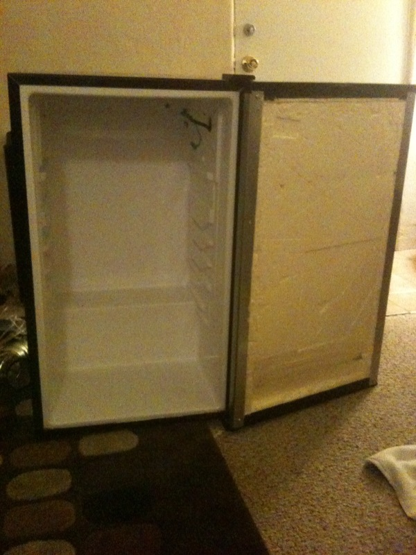 Indoor Led Cfl Hydro Grow Sour Diesel In A Mini Fridge
