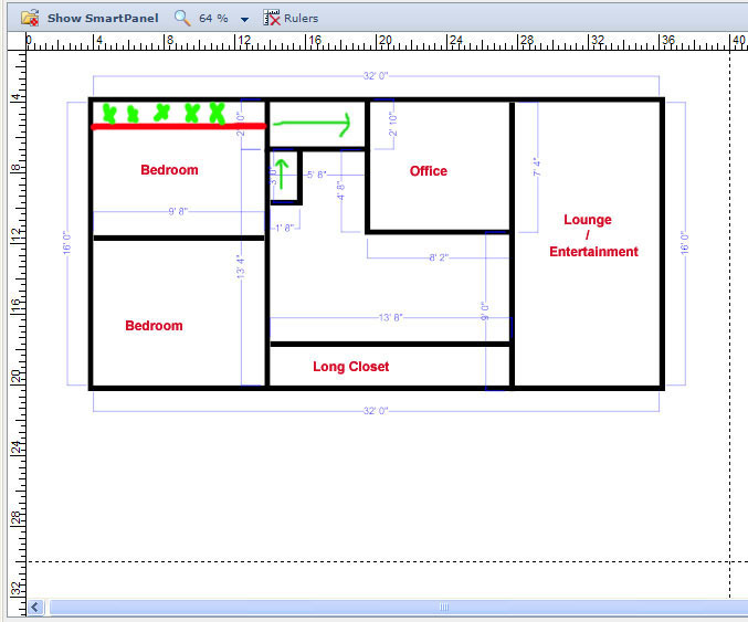 Planning stage for a grow closet for 16x32 house plans