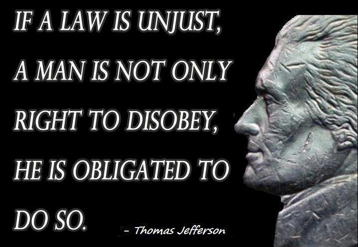 unjust laws of today Is it wrong to tolerate unjust laws please cast your vote after you've read the arguments you can also add to the debate by leaving a comment at the end of the page.